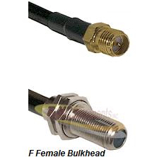 SMA Reverse Polarity Female Connector On LMR-240UF UltraFlex To F Female Bulkhead Connector Coaxial