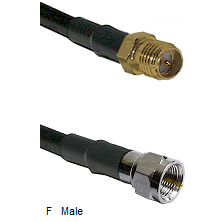 SMA Reverse Polarity Female Connector On LMR-240UF UltraFlex To F Male Connector Coaxial Cable Assem