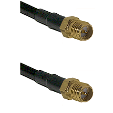 SMA Reverse Polarity Female Connector On LMR-240UF UltraFlex To SMA Reverse Polarity Female Connecto