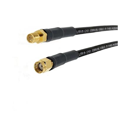 SMA Reverse Polarity Female on LMR240 Ultra Flex to SMA Reverse Polarity Male Cable Assembly