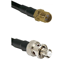 SMA Reverse Polarity Female Connector On LMR-240UF UltraFlex To SHV Plug Connector Coaxial Cable Ass