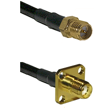 SMA Reverse Polarity Female Connector On LMR-240UF UltraFlex To SMA 4 Hole Female Connector Coaxial
