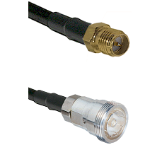 SMA Reverse Polarity Female on RG142 to 7/16 Din Female Cable Assembly