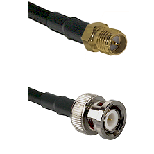 SMA Reverse Polarity Female on RG142 to BNC Male Cable Assembly