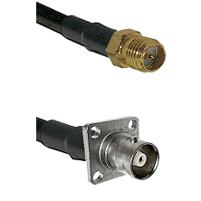 SMA Reverse Polarity Female on RG142 to C 4 Hole Female Cable Assembly