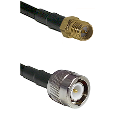 SMA Reverse Polarity Female on RG142 to C Male Cable Assembly