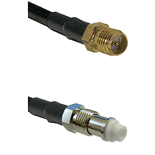 SMA Reverse Polarity Female on RG142 to FME Female Cable Assembly