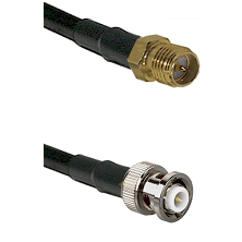 SMA Reverse Polarity Female on RG142 to MHV Male Cable Assembly