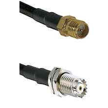 SMA Reverse Polarity Female on RG142 to Mini-UHF Female Cable Assembly