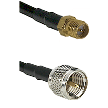 SMA Reverse Polarity Female on RG142 to Mini-UHF Male Cable Assembly