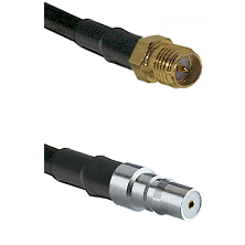 SMA Reverse Polarity Female on RG142 to QMA Female Cable Assembly