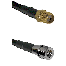 SMA Reverse Polarity Female on RG142 to QMA Male Cable Assembly