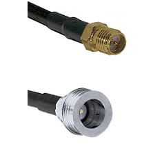SMA Reverse Polarity Female on RG142 to QN Male Cable Assembly