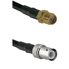 SMA Reverse Polarity Female on RG142 to BNC Reverse Polarity Female Cable Assembly