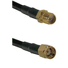 SMA Reverse Polarity Female on RG142 to SMA Reverse Polarity Male Cable Assembly