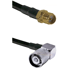 SMA Reverse Polarity Female on RG142 to SC Right Angle Male Cable Assembly