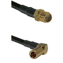 SMA Reverse Polarity Female on RG142 to SLB Right Angle Female Cable Assembly