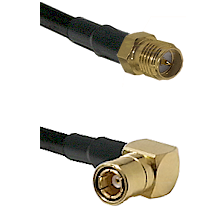 SMA Reverse Polarity Female on RG142 to SMB Right Angle Female Cable Assembly