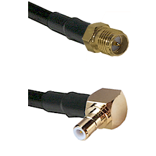 SMA Reverse Polarity Female on RG142 to SMB Right Angle Male Cable Assembly