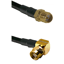 SMA Reverse Polarity Female on RG142 to SMC Right Angle Female Cable Assembly