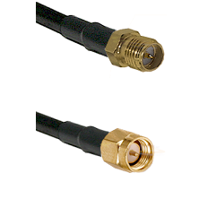 SMA Reverse Polarity Female on RG142 to SMA Reverse Thread Male Cable Assembly