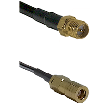 SMA Reverse Polarity Female on RG142 to SLB Female Cable Assembly