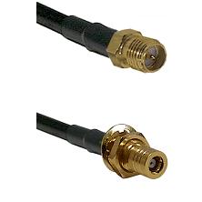 SMA Reverse Polarity Female on RG142 to SLB Female Bulkhead Cable Assembly