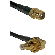 SMA Reverse Polarity Female on RG142 to SLB Male Bulkhead Cable Assembly