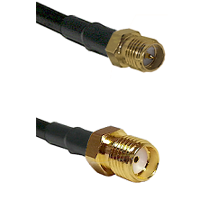 SMA Reverse Polarity Female on RG142 to SMA Female Cable Assembly
