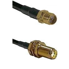 SMA Reverse Polarity Female on RG142 to SMA Female Bulkhead Cable Assembly