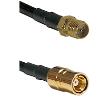 SMA Reverse Polarity Female on RG142 to SMB Female Cable Assembly