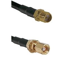 SMA Reverse Polarity Female on RG142 to SMC Female Bulkhead Cable Assembly