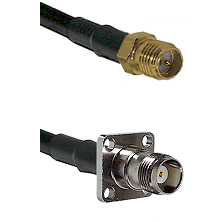 SMA Reverse Polarity Female on RG142 to TNC 4 Hole Female Cable Assembly