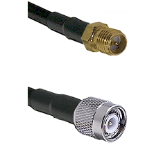 SMA Reverse Polarity Female on RG142 to TNC Male Cable Assembly