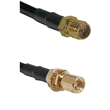 SMA Reverse Polarity Female on RG316DS Double Shielded to SSMC Female Bulkhead Cable Assembly