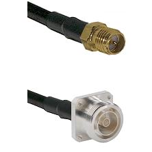 SMA Reverse Polarity Female on RG58C/U to 7/16 4 Hole Female Cable Assembly