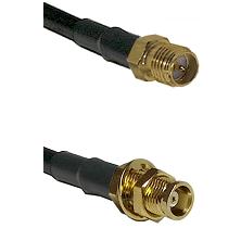 SMA Reverse Polarity Female on RG58C/U to MCX Female Bulkhead Cable Assembly