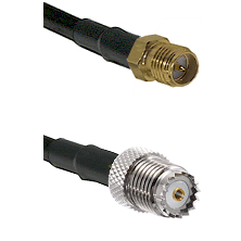 SMA Reverse Polarity Female on RG58 to Mini-UHF Female Cable Assembly