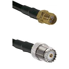 SMA Reverse Polarity Female on RG58 to Mini-UHF Female Cable Assembly