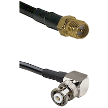 SMA Reverse Polarity Female on RG58C/U to MHV Right Angle Male Cable Assembly
