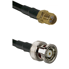 SMA Reverse Polarity Female on RG58C/U to BNC Reverse Polarity Male Cable Assembly
