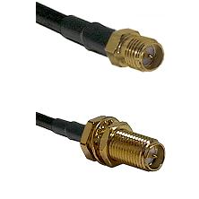 SMA Reverse Polarity Female on RG58C/U to SMA Reverse Polarity Female Bulkhead Coaxial Cable Assembl