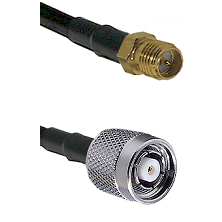 SMA Reverse Polarity Female on RG58C/U to TNC Reverse Polarity Male Cable Assembly