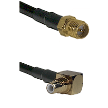 SMA Reverse Polarity Female on RG58C/U to SMC Right Angle Male Cable Assembly