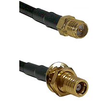 SMA Reverse Polarity Female on RG58C/U to SMB Female Bulkhead Cable Assembly
