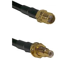 SMA Reverse Polarity Female on RG58C/U to SMC Male Bulkhead Cable Assembly