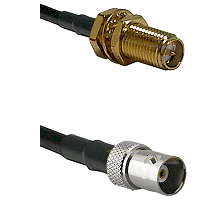 SMA Reverse Polarity Female Bulkhead on LMR100 to BNC Female Cable Assembly