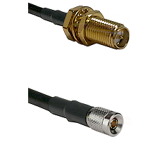 SMA Reverse Polarity Female Bulkhead on LMR-195-UF UltraFlex to 10/23 Male Cable Assembly