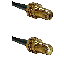 SMA Reverse Polarity Female Bulkhead on LMR-195-UF UltraFlex to SMA Female Bulkhead Coaxial Cable As