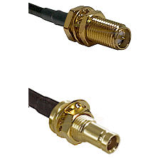 SMA Reverse Polarity Female Bulkhead on LMR200 UltraFlex to 10/23 Female Bulkhead Coaxial Cable As